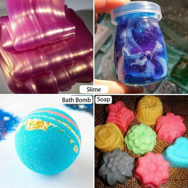 Lot Color DIY Powder Healthy Natural Mineral Mica Powder DIY Pigment Colorant Makeup Eyeshadow Soap Powder For Lips Make Up 2