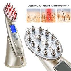 Вводная часть для парикмахерских услуг натуральное здоровье расческа для волос RF микротоковый вибрационный массаж лазерная расческа для у...