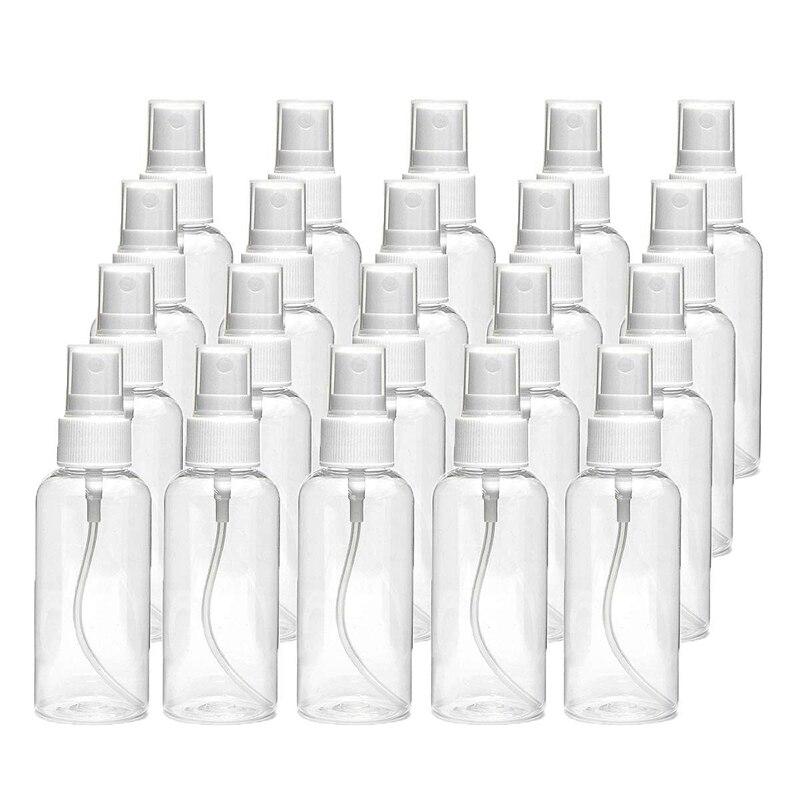 20 шт 30 мл (1 унций) прозрачная пластиковая бутылка для распыления тумана, прозрачная дорожная бутылка, портативная многоразовая распылитель...