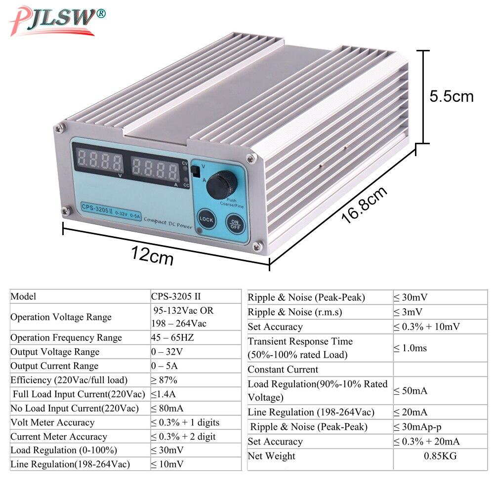 110V-220VAC Mini CPS 3205II DC alimentation de laboratoire numérique réglable 32V 5A 0.01V 0.001A régulateur de tension dc alimentation