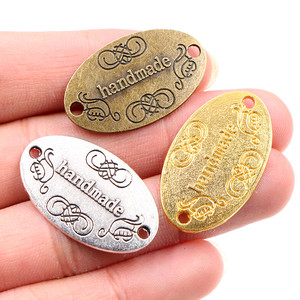 10pcs 31x19mm Handmade Charms Antique Bronze Gold Silver Plated Pendant fit,Vintage Tibetan DIY Handmade Jewelry Making Supplies