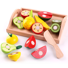 Wooden Simulation Kitchen Series Children Toys Cutting Fruit And Vegetable Toy Play House Early education For Kids Gifts