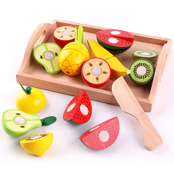 Wooden Simulation Kitchen Series Children Toys Cutting Fruit And Vegetable Toy Play House Early education For Kids Gifts simulation soft silicone baby dolls photography props pregnancy early education utensil children play house toys l633