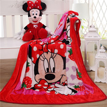 Cho Bé Disney Minnie Mouse Chăn nỉ trẻ em ném chăn Sang Trọng Ấm Bộ Chăn ga Túi Đựng Chăn Cho Bé Trai Bé Gái gift100x140cm