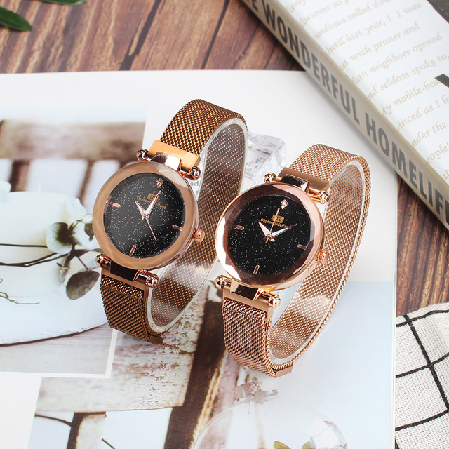 Ladies' Watch Women's Waterproof Fashion Network Red New Style Students Korean-style Simple Trend Casual Glorious Magnet Watch