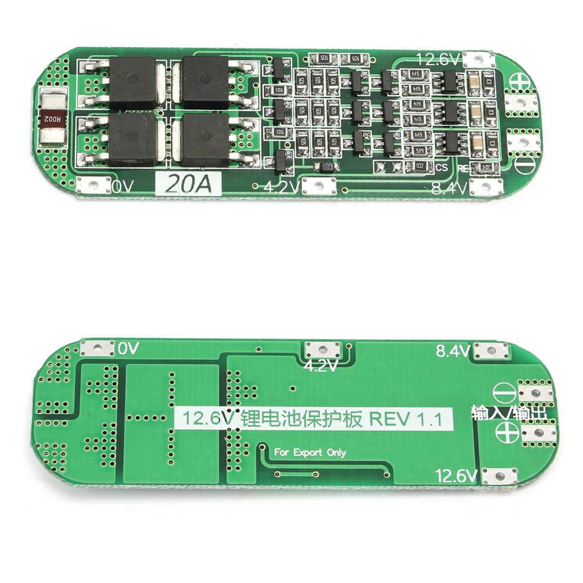 3S 20A Li-Ion LITHIUM แบตเตอรี่ 18650 เครื่องชาร์จ PCB BMS Protection BOARD CELL 12.6V