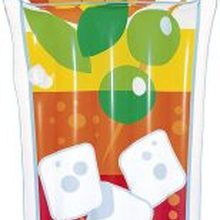 Bestway 44037-inflatable Tropical drink 190x99 cm, color/assorted model