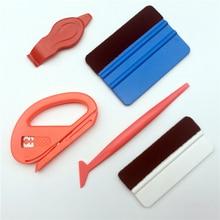Kit doutils de teinture pour vitres de voiture, ensemble doutils de teinte, autocollant demballage en vinyle, raclette dinstallation daccessoires de voiture, 5 pièces