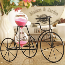 Creative novelty iron tricycle hourglass childrens student giftmen and women send friends birthday gift timer