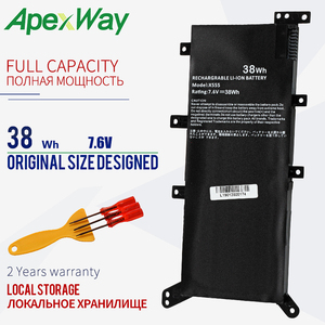 Apexway 7.6V 38Wh Battery Laptop For ASUS X554L X555L X555LB X555LN X555 X555LD X555LP F555A F555U W519L F555UA VM C21N1347(China)