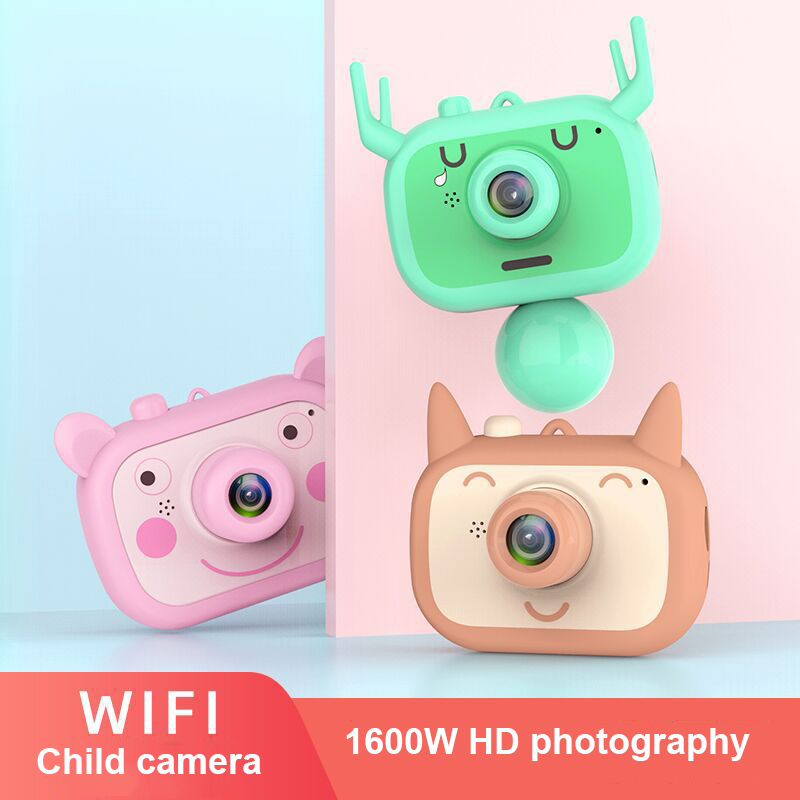 WiFi Kid Digital Camera Kid Chargable 1600W HD Camera Child Anti-fall Outdoor Photography Prop Digital Camera Kid Birthday Gift