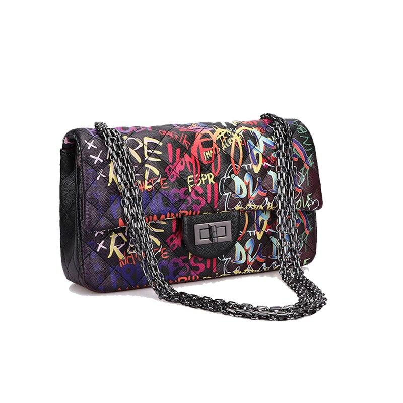 Black Graffiti Bag For Women 2019 Large Luxury Bags Handbags Designer Oversized Tote Crossbody Travel Bag Overnight Shoulder Bag
