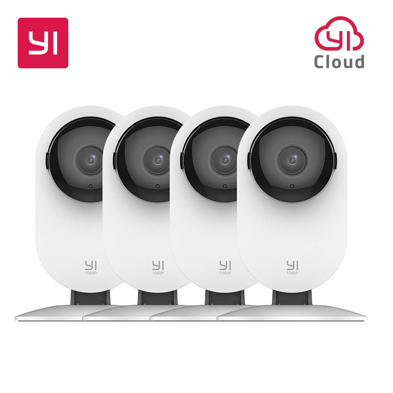 YI 4pc Home Camera, 1080p Wi-Fi IP Security Surveillance Smart System with Night Vision, Baby Monitor on iOS, Android App