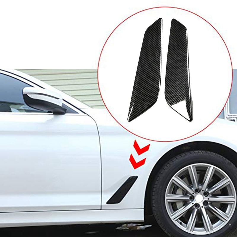 Hilux Revo 16-18 Black Side Air Vent Intake Cover Trim 2pcs For Toyota Hilux