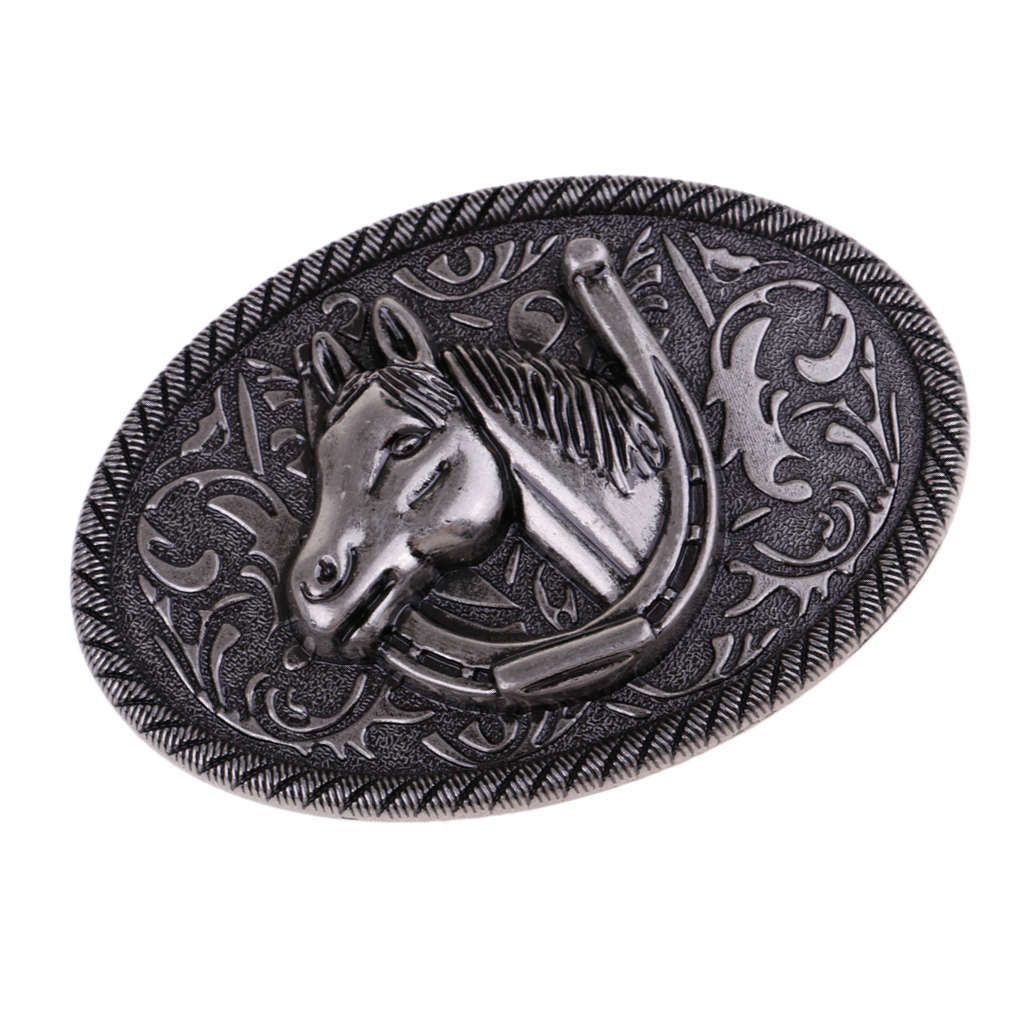 Zinc Alloy Classic Belt Buckle Horse Head Western Cowboy Vintage Belt Buckles Mens Boys Gift