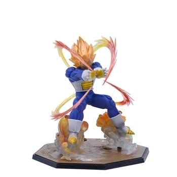 цена на Anime Dragon Ball Z Super Saiyan Vegeta Battle State Final Flash PVC Action Figure Collectible Model PVC Toy 13CM