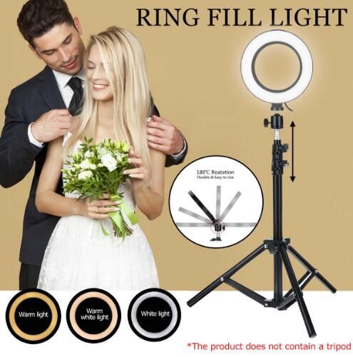 USB Dimmable LED Selfie Ring Light Makeup Lamp Cellphone For IPhone 11 Pro Max Clip Holder Adjustable Desk Lamp Makeup Light