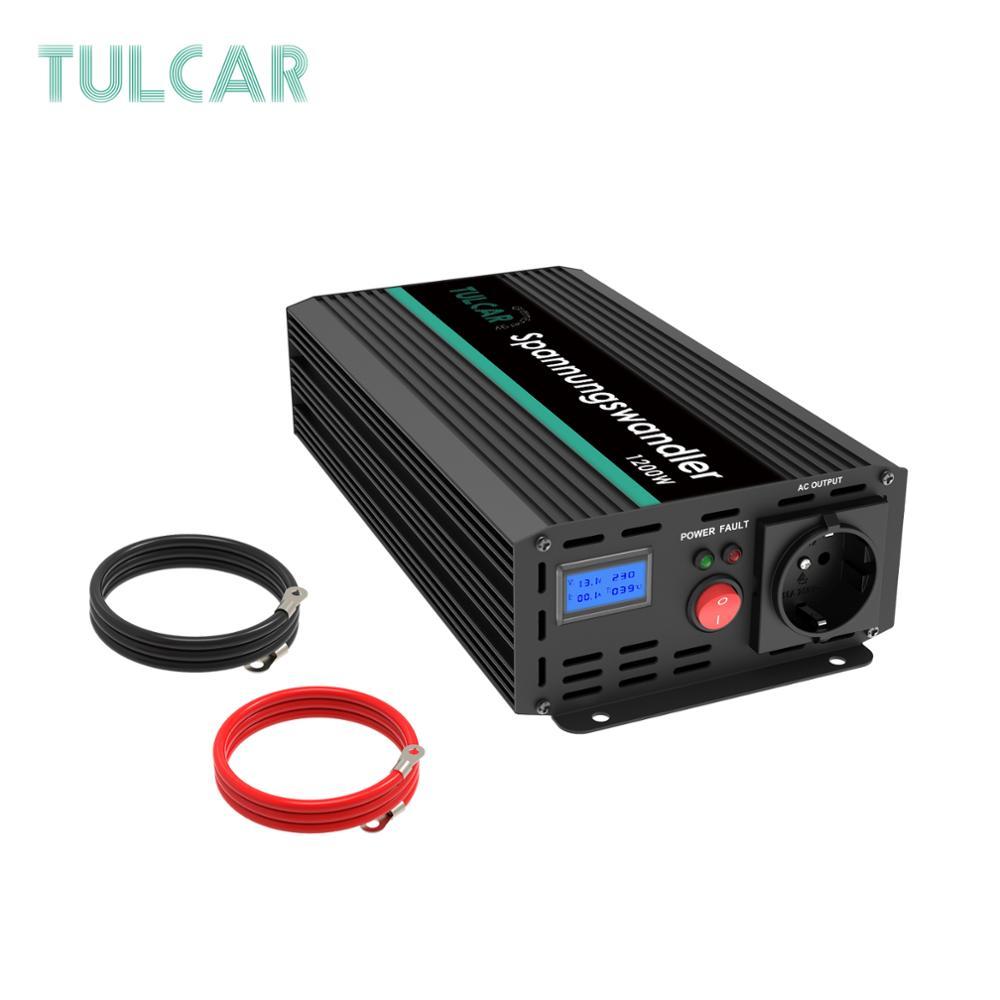 TULCAR power inverter 1200W 2500W modified sine wave DC 12V AC 220V 230V 240V with LCD display