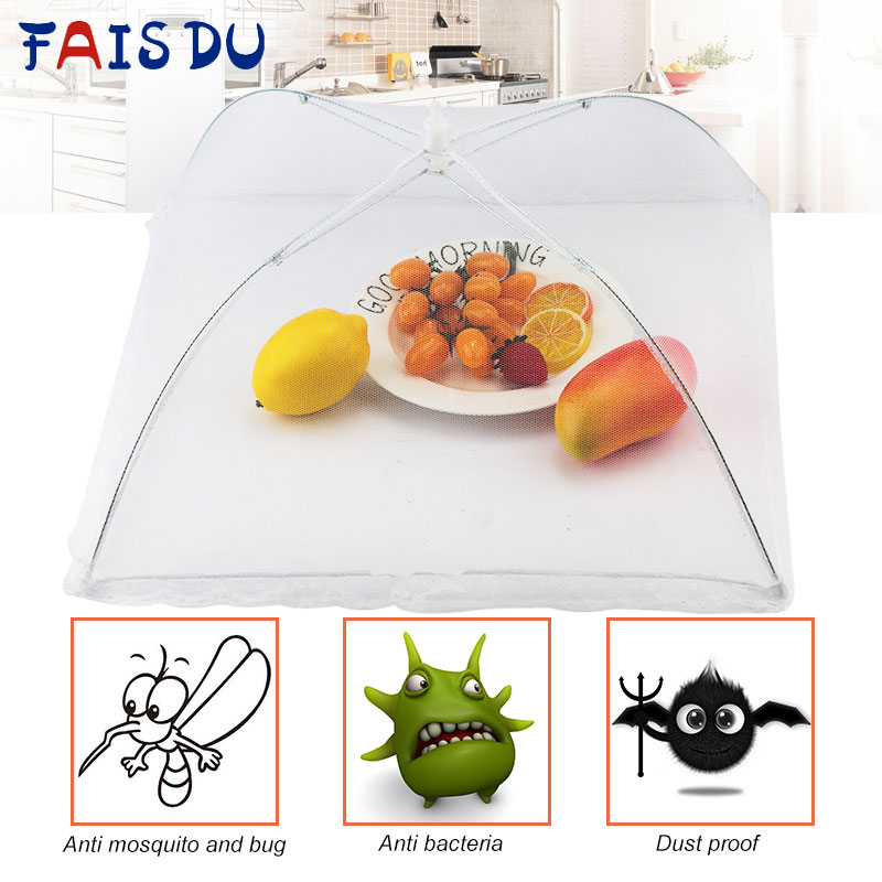 1pcs Folding Food Covers Protector Net Umbrella Anti Fly Mosquito-Strong Cover