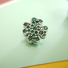 Summer Charms Fourclover Real 925 Sterling Silver Sparkling CZ Original Reflection Fit Pandora Bracelet Jewelry