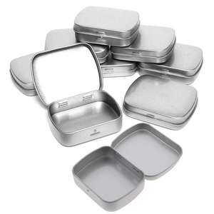 Portable Travel Silver Metal Rectangle Pill Box Case Drug Holder Medicine Tablet Capsule Box Container Storage(China)