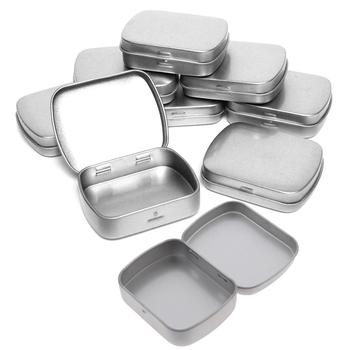 Przenośna podróż srebrny Metal prostokąt opakowanie na tabletki uchwyt na leki medycyna Tablet pojemnik na kapsułki pojemnik do przechowywania tanie i dobre opinie KuZHEN aluminum pill box metal