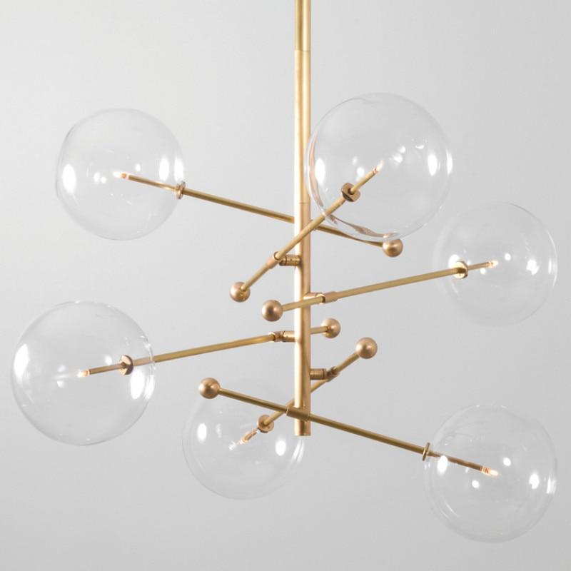 Globe Glass Ball Chandeliers Lights Nordic Modern Chandelier Lighting Hanging Lamp Suspension Light Fixture Dinning Room Kitchen