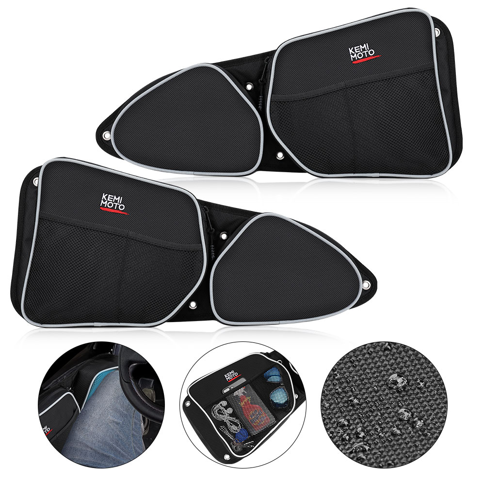 UTV Passenger Driver Side Door Bag For Polaris RZR XP1000 900XC S900  Storage Bag Knee Pad 2014 2015 2016 2017 2018
