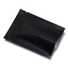 10x15cm 200pcs/lot Heat Seal Matte Black Aluminum Foil Vacuum Food Storage Bag Nut Snacks Bakery Open Top Mylar Pack Pouches