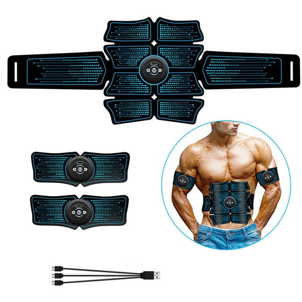 Toner Massage Trainer Exercise Belt USB Charging Home Fitness Abdominal Muscle Stimulator Easy Operate Fat Burning Effective Gym