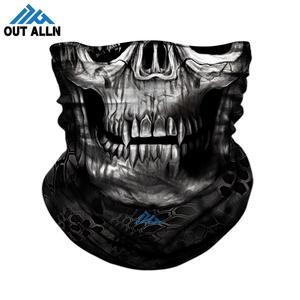 Máscara facial táctica 3D calavera camuflaje cuello polaina Bandana sin costuras Buff tubo caza cuello bufanda diadema protector facial para motocicleta