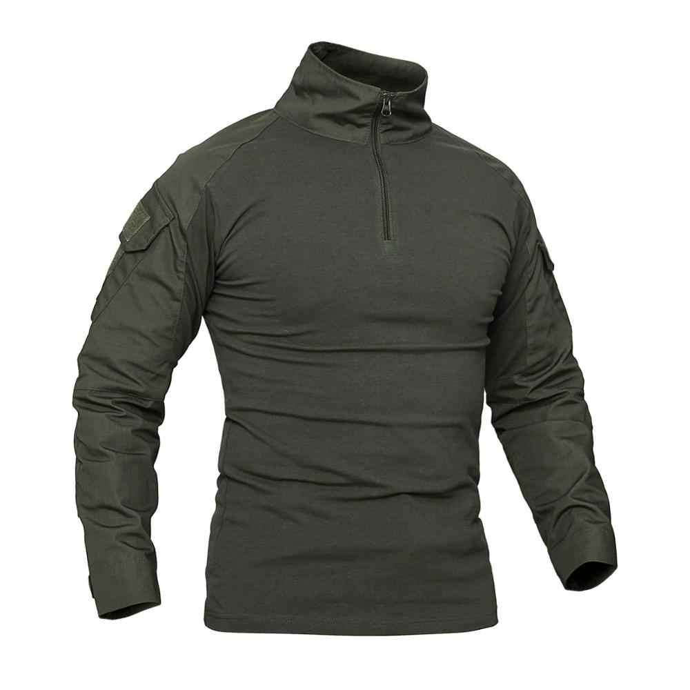 Flog Long sleeve Army Camouflage T-shirt Men Camo T Shirt Quick Dry Hiking Hunting Fishing Military Tactical Tshirt Women Summer