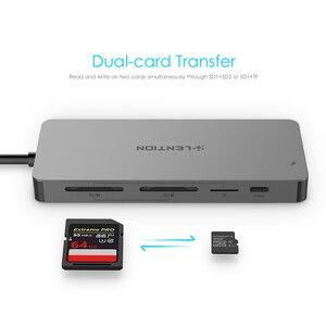 Image 3 - Lention USB HUB إلى متعدد USB 3.0 HDMI محول حوض ل ماك بوك برو 13.3 اكسسوارات USB C نوع C 3.1 الفاصل 11 ميناء USB C HUB