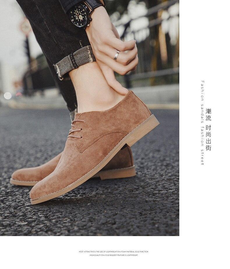H1d950adc36084685bb6d4d97f1ca5f7fG Merkmak Fashion England Trend Casual Shoes Men Flock Oxford Wedding Leather Dress Men Flats Waterproof Men Shoes Plus Siz