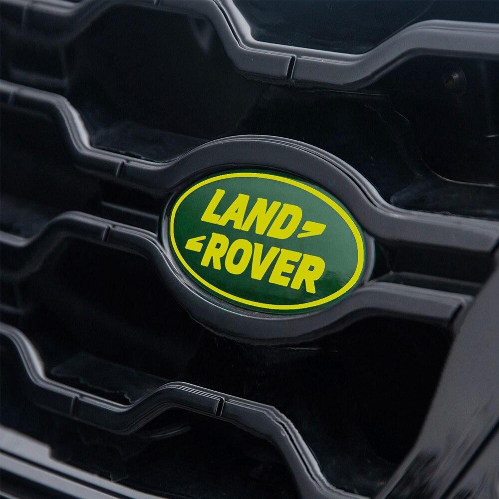 Etiqueta do emblema da cauda do tronco da grade dianteira do carro para a descoberta de land rover autogiografia velar evoque freelander svr range rover lr2