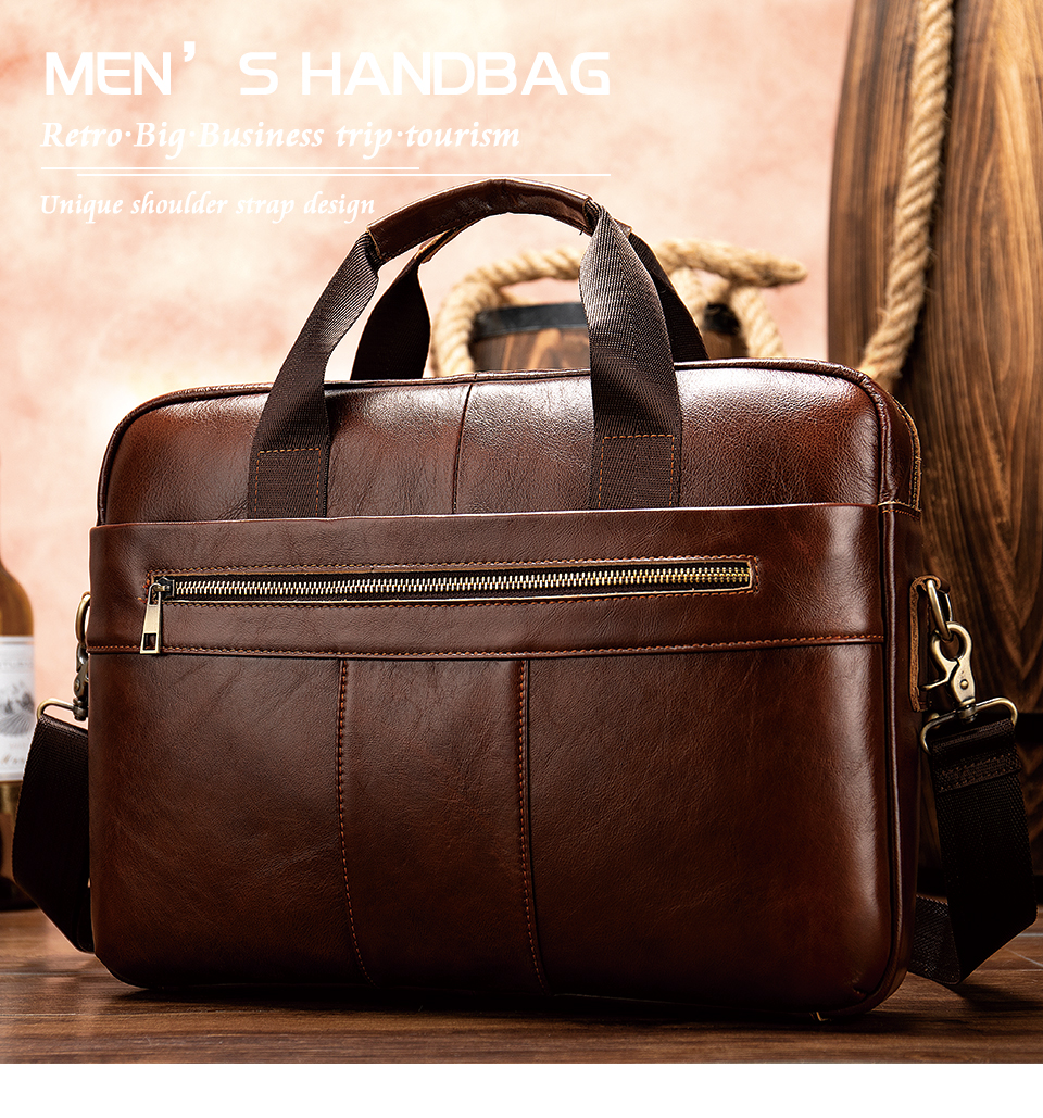H1d954ecf2a5941b49dde0e63622e2a5eQ WESTAL Men's Briefcase Men's Bag Genuine Leather Laptop Bag Leather Computer/Office Bags for Men Document Briefcases Totes Bags