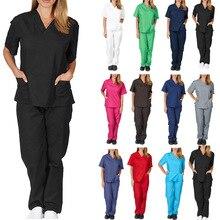 Women?s Medical Uniform Scrub Set (S-2X, 11 Colors) ? Includes Top and Pant