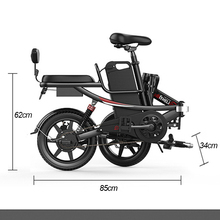 14 inch electric bicycle lithium battery e bike 48V 400W  folding electric bike high carbon steel e bicycle