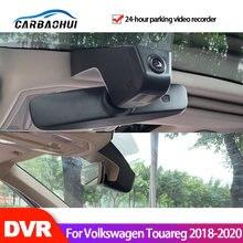 Dvr carro gravador de vídeo wi fi câmera traço cam para volkswagen touareg 2018 2019 2020 2021 alta qualidade visão noturna hd ccd completo