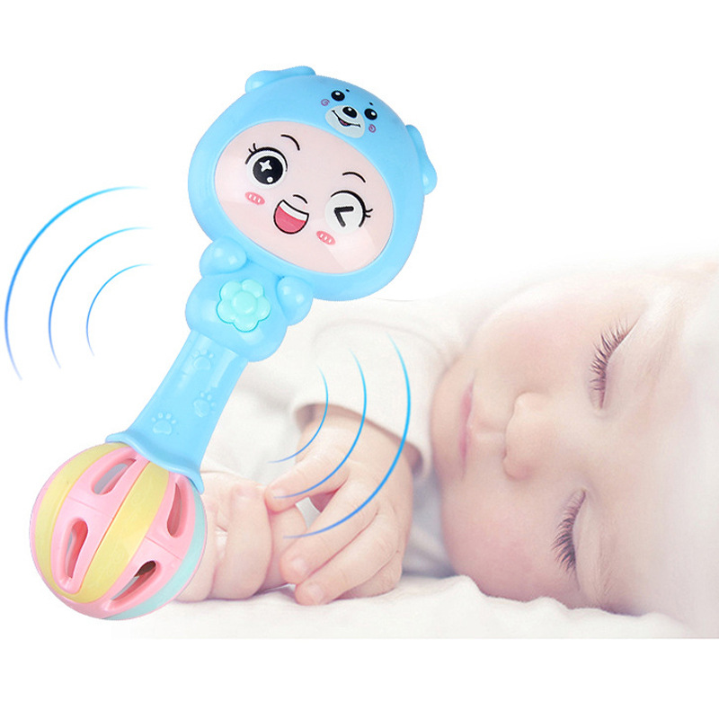 Baby Toys 0-1-Year-Old Rattle Hand Rattle Music Jie Zou Bang Newborn Children Baby Educational Toy