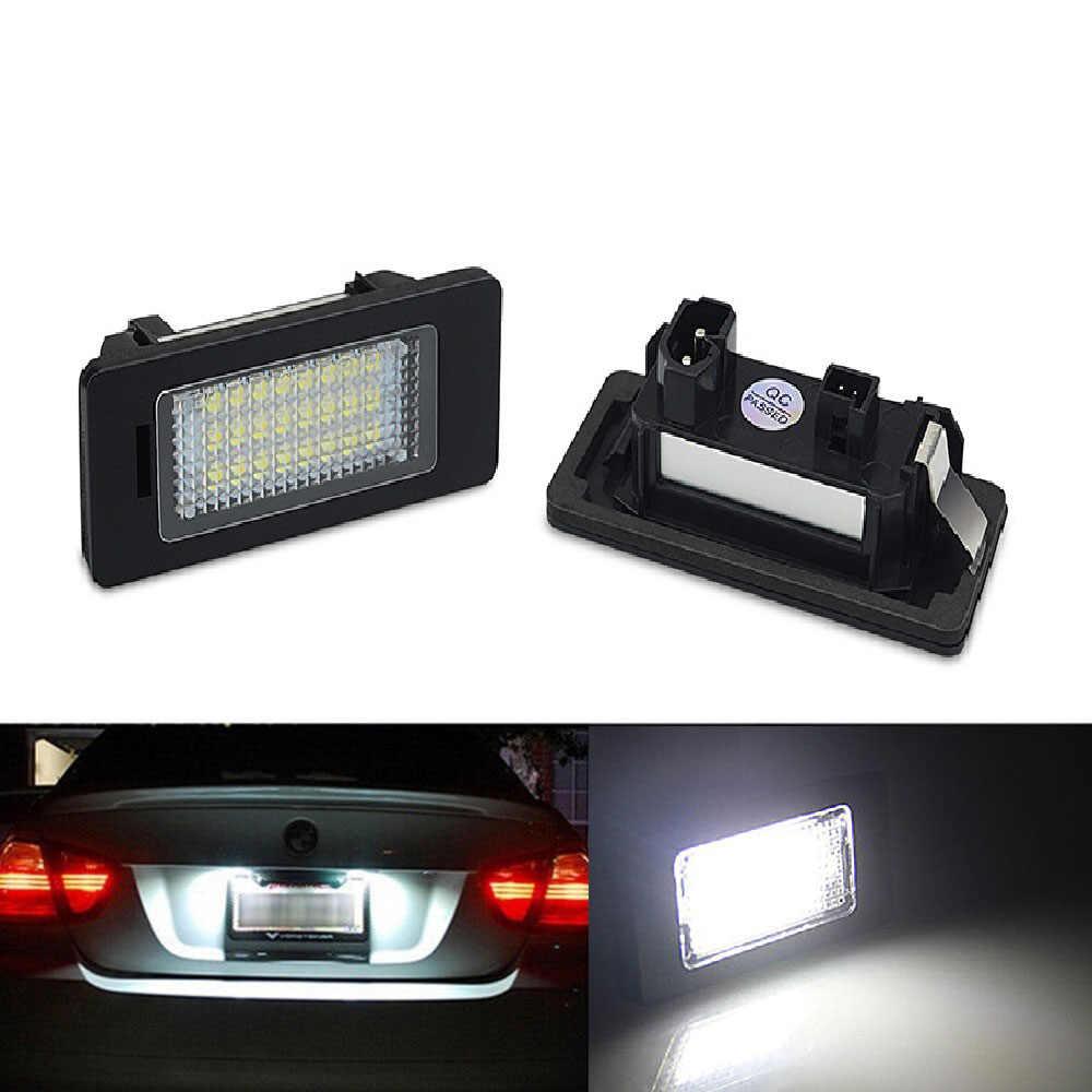 2 قطعة Led رقم لوحة مصابيح لسيارة BMW E60 عدد ترخيص لوحة ضوء مصباح ل BMW E39 M5 E70 E71 X5 X6 E60 M5 E90 E92 E93 M3