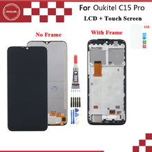 ocolor For Oukitel C15 Pro LCD Display And Touch Screen With Frame Digitizer Assembly For Oukitel C15 Pro LCD Screen+Tools+Film