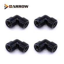 4 pièces/lots G1/4 filetage double 90 degrés adaptateur de raccord rotatif rotatif 90 adaptateurs dangle utilisation pour OD12mm/14mm/16mm Tube dur
