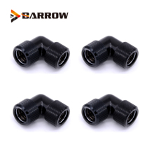4pcs/lots G1/4 thread Dual 90 Degree Rotary Fitting Adapter Rotating 90 Angle Adaptors use for OD12mm/14mm/16mm Hard Tube
