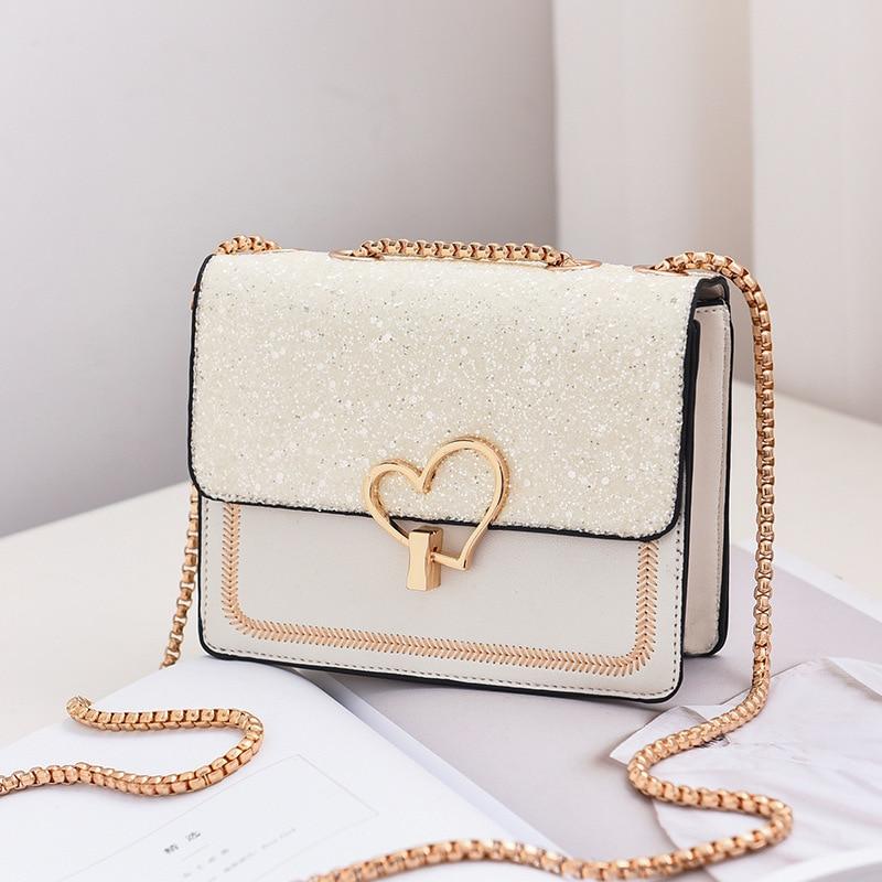 Мини 2019 модные женские сумки Алмазная цепочка плечи сердце одно плечо милые конфеты дамы телефон сумка Koera стиль Blosa|Сумки с ручками|   | АлиЭкспресс