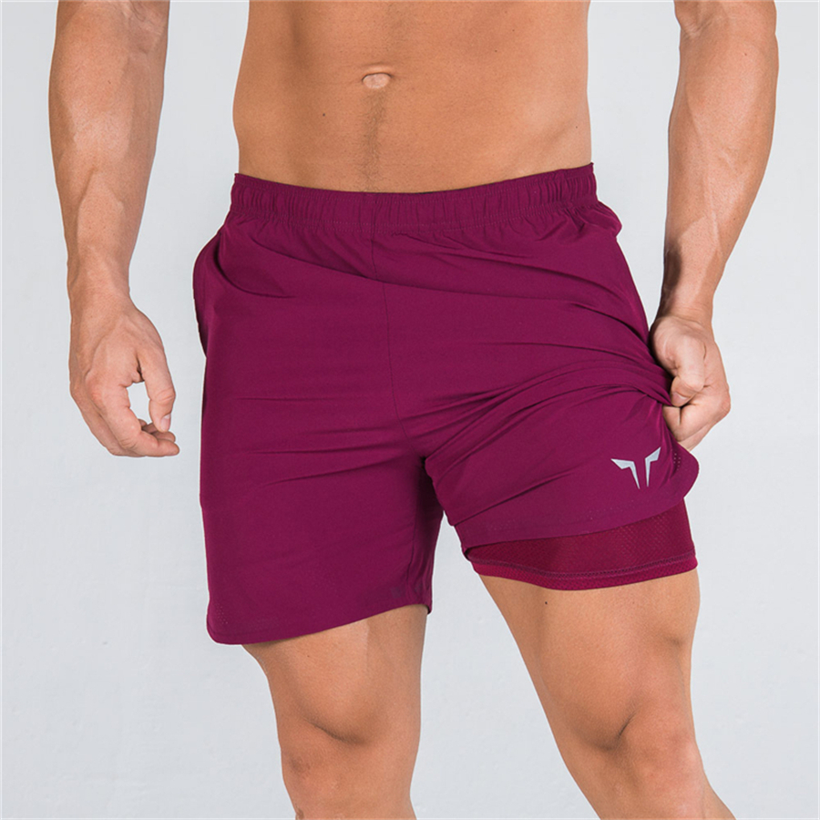 Men's Shorts Gyms Summer Men's Shorts Mesh Lining Fast Dry Breathable Fitness Shorts Men Sportswear Beach Shorts