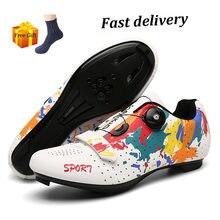 Sapatos de ciclismo dos homens do esporte spd bicicleta estrada tênis profissional triathlon sapilha ciclismos zapatillas mountain mtb bicicleta sapatos