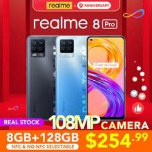 Realme 8 Pro 8GB 128GB wersja globalna kamera 108MP 50W SuperDart opłata AMOLED Snapdragon 720G