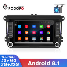 Podofo Car Multimedia Player 2 Din Car Radio Stereo GPS For VW/Volkswagen/Golf/Polo/Tiguan/Passat/b7/b6/SEAT/leon/Skoda/Octavia