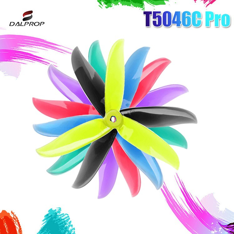 12Pair 24PCS Upgraded DALPROP CYCLONE T5046C PRO 5046 5x4.6x3 3-blade POPO Propeller CW CCW For RC Drone FPV Racing